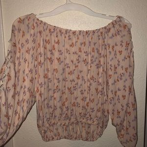 Pink w flowers off the shoulder top from forever21